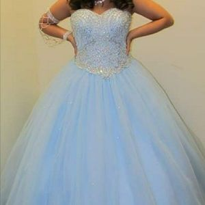 Quinceañera baby blue dress